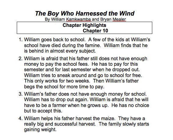 The Boy Who Harnessed The Wind - Aphasia Center of ...
